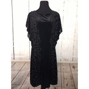 White House Black Market Black Velvet Dress Size M